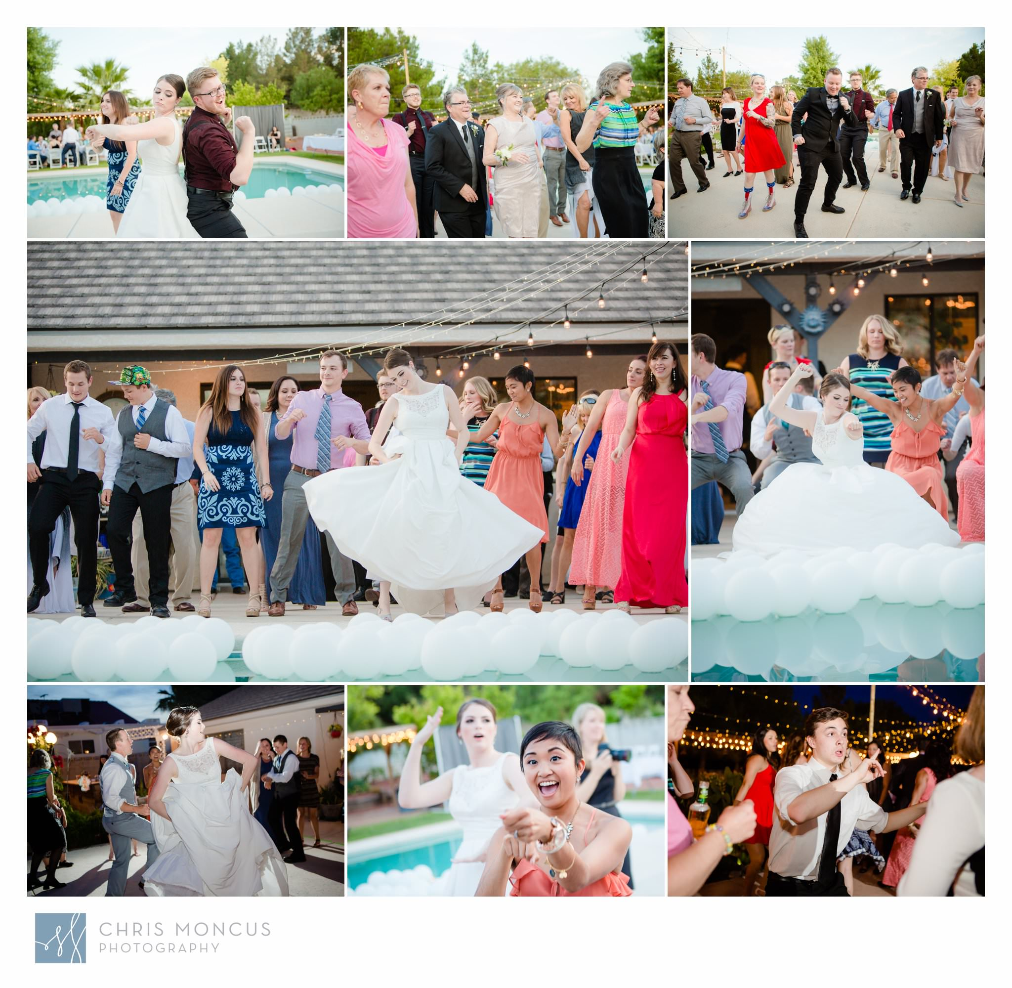 Dancing By Pool Las Vegas Wedding