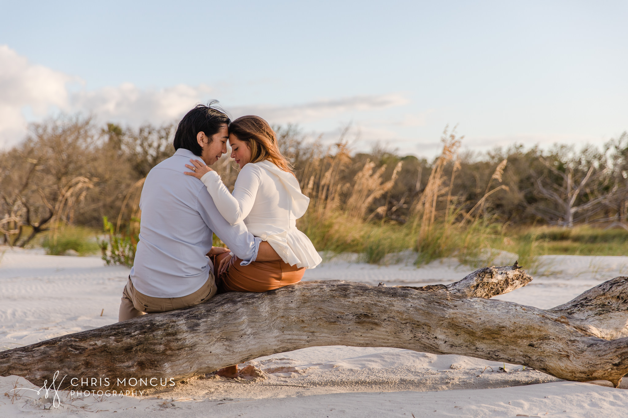 Jekyll Island Driftwood Beach Engagement Proposal